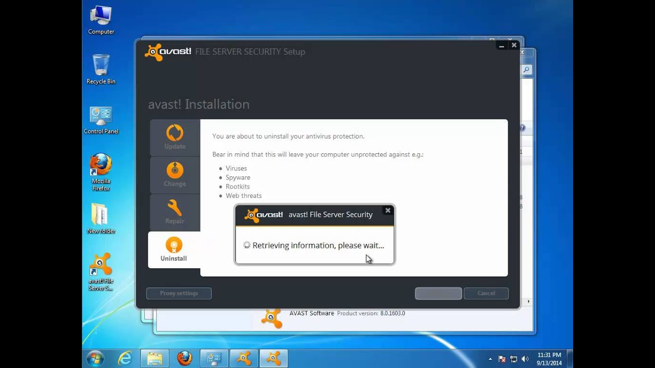 Unprotected avast, does not work