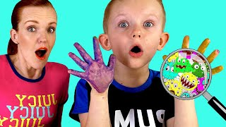 Pretend Play Wash Your Hands Kids Story | Clean Hands Before Eating and After Playing