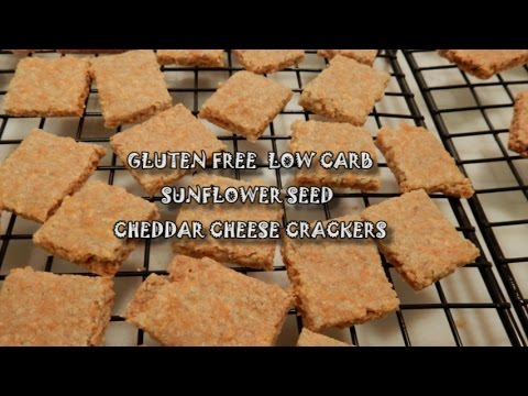 Sunflower Seed ~ Cheddar Cheese Crackers ~ Gluten Free and Low Carb