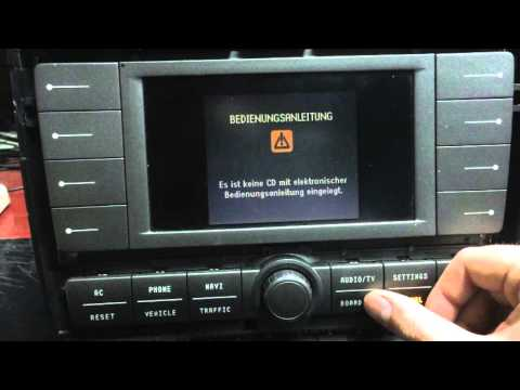 VW Phaeton MMI Navigation module after repair testing and preview