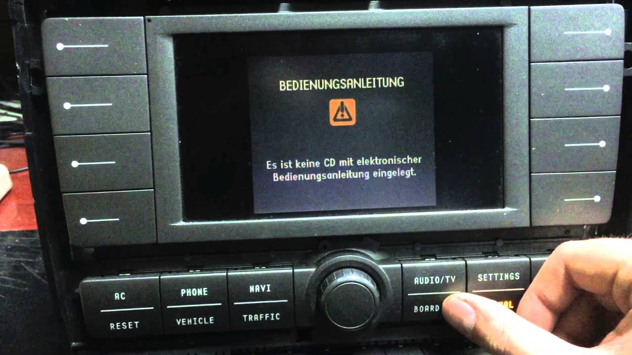 VW Phaeton MMI Navigation module after repair testing and preview - YouTube