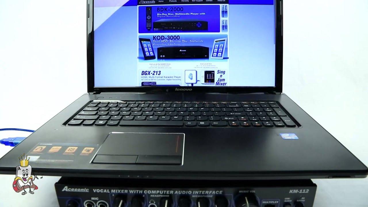 Acesonic KM 112 Setup Mac & PC Ace Karaoke
