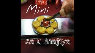 Mini Food | Potato Bhajiya,Pakoda | Miniature Aalu Bhaji by Indian Mini Food
