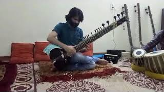 tija tera rang tha mai to...song on sitar by dr ashok