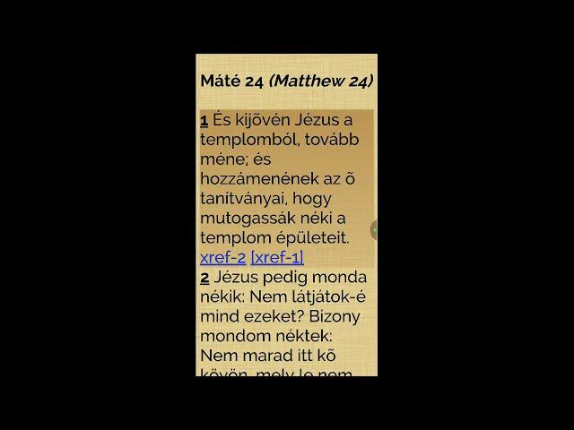 Jézus beszédei a világvégérő (Máté evangéliuma, 24. rész)