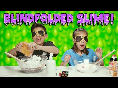 Download Youtube: BLINDFOLDED SLIME CHALLENGE!!! How To Make Super Messy Slime!