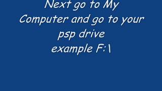 How to put iso cso games into psp good quality