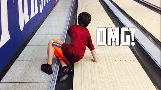 bowling trick shots   i fell on the lane