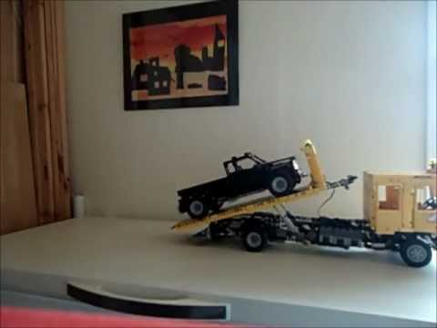 lego technic man flatbed towtruck youtube. Black Bedroom Furniture Sets. Home Design Ideas
