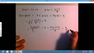 function composition f x 7x 9 g x x 7 9
