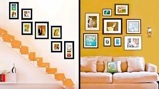 как оформить фотографии на стене  30 фото в интерьере