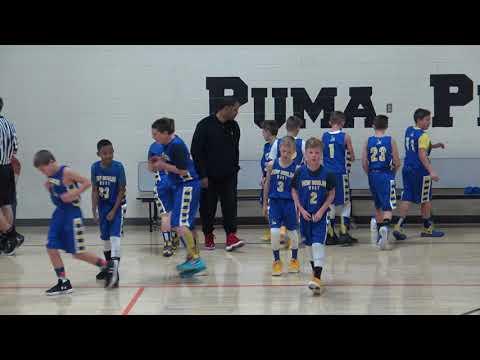 New Berlin West 5th grade Basketball Poynette game 1