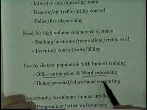 User Interface Design Motivation (1988 University of Maryland UIS Broadcast)
