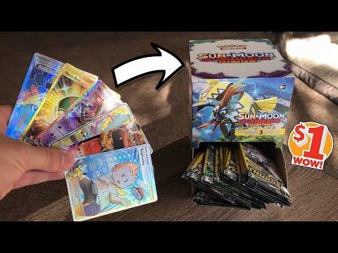 *I PULLED $1 SECRET RARES!* Opening ALL THE DOLLAR TREE POKEMON CARD PACKS!