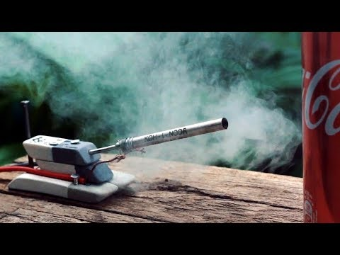 How To Make Powerful Tank Cannon From A Metal Pen Refill
