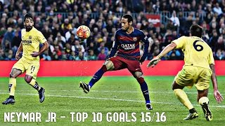 Neymar jr - top 10 goals 2015/16 | english commentary | hd