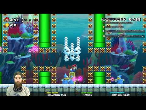 Super Mario Maker Super Expert / Oshi Troll Level / Dram 2 WR Attempts [LIVE]
