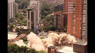 Más de 200 kilos de explosivos fueron necesarios para derribar el Edificio Mónaco