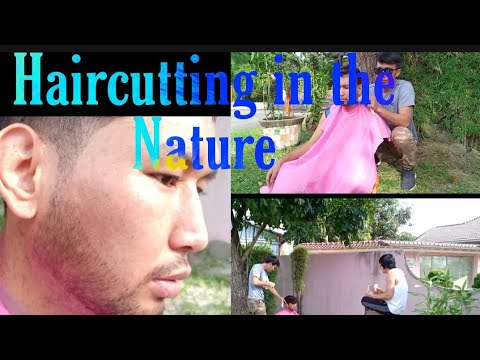 #starhairstyle-#hair-#salon-#barbershop.-_haircutting-in-the-nature.