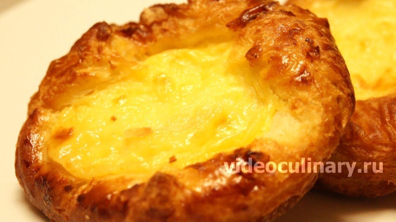 Яблочный пирог из дрожжевого слоеного теста - Рецепт Бабушки Эммы .