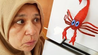 Gıant Cockroach And Red Scorpion PRANK! Ayşe BEFORE Fear After Happy