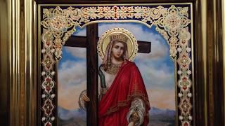 Сумская Икона Святая Равноапостольная Царица Елена Обзор Готовой Работы Написанной в Мастерской