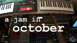 october a live jam streichfett minilogue analog four a4 tr 8 mx 1 ju 06 system 1 tb 3