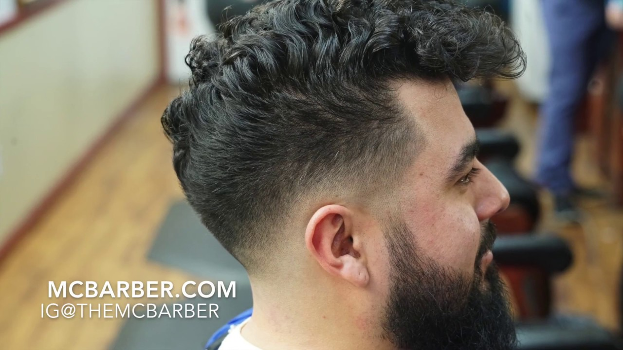 Barber Tutorial Low Drop Bald Fade With Curly Hair