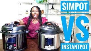 Simfonio Simpot 8 Quart Pressure Cooker VS Instant Pot