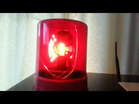 MY ROTATING RED BEACON NOW WITH 12V LED BULB UPGRADE!!.