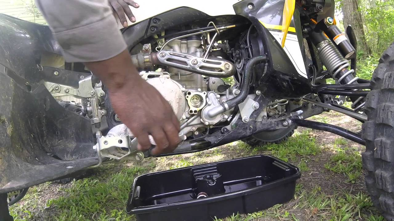 how to change oil on 2016 yfz 450r
