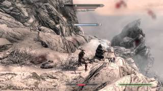 SKYRIM How To Kill Ice Wraith (Glitch Free) GamePlay Commentary + Tutorial