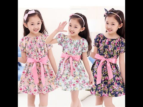 0a4cd2d3b9b64 أغنية اجمل فساتين اطفال بالوان روعة ملابس اطفال بناتي صيف 2017 فساتين بنات  للعيد
