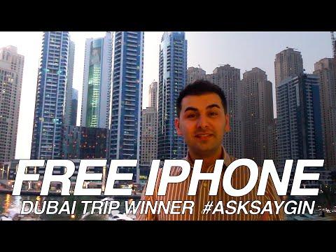 FREE IPHONE #AskSaygin #1 #DubaiTrip