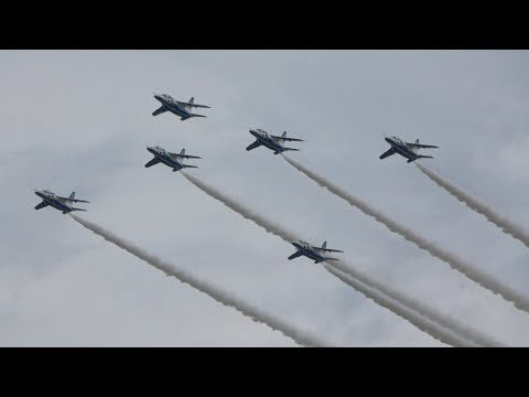 小松基地航空祭2018 ブルーインパルス展示飛行