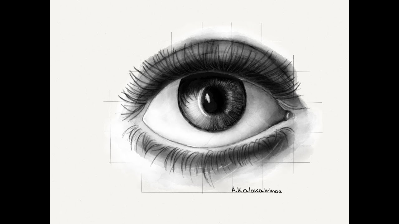 How to draw a realistic eye with: Paper by 53 - YouTube