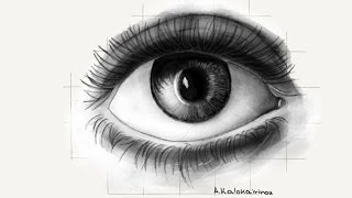 How to draw a realistic eye with: Paper by 53
