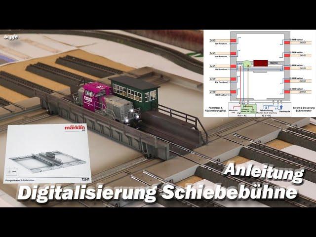 Märklin Schiebebühne - Digitalisierung ( Steuerung & Rückmeldung )