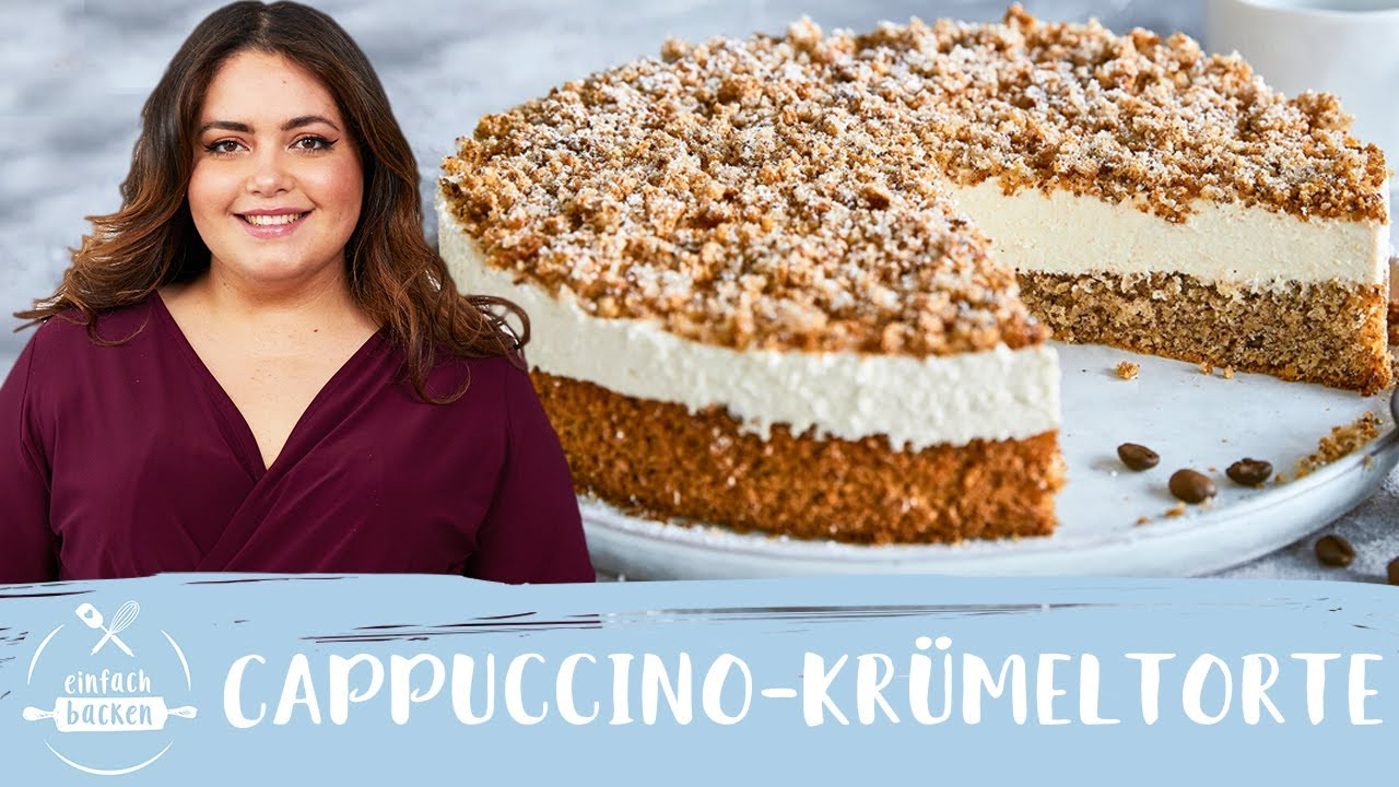 Cappuccino Krümeltorte – unglaublich sahnige Kaffeetorte! 😍 I Einfach Backen