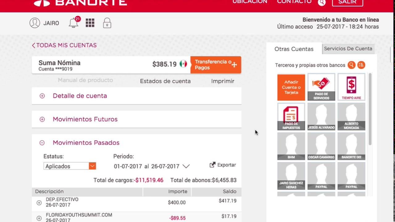 Banorte: Banorte / Configurar Cuenta