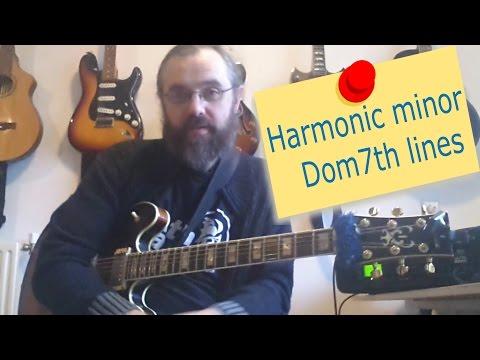 Harmonic minor dom7th lines