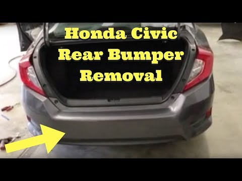 2016 2017 2018 Honda Civic --- Rear Bumper Removal Replace Install How to Remove