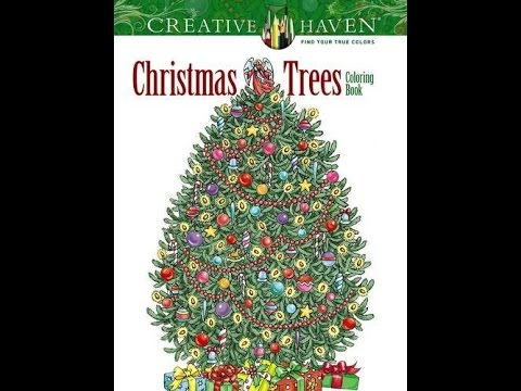 Flip Through Dover Creative Haven Christmas Trees Coloring Book by ...