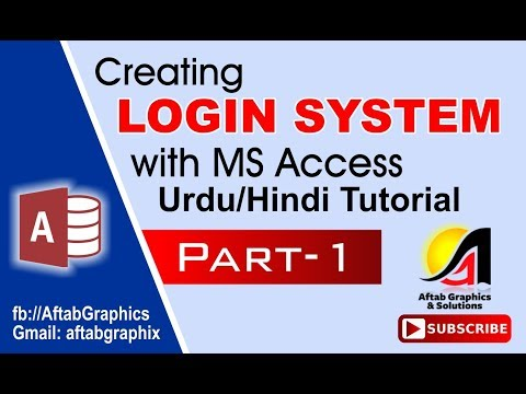 Creating Login System With Access Part-1 (Urdu/Hindi Tutorial)