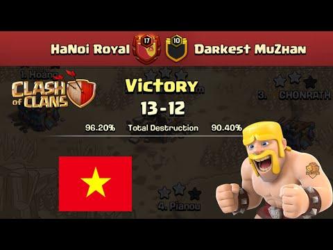 HANOI ROYAL CHIẾN THẮNG CLAN TOP 1 THẾ GIỚI TRUNG QUỐC DARKEST MUZHAN Clash of clans   Akari Gaming