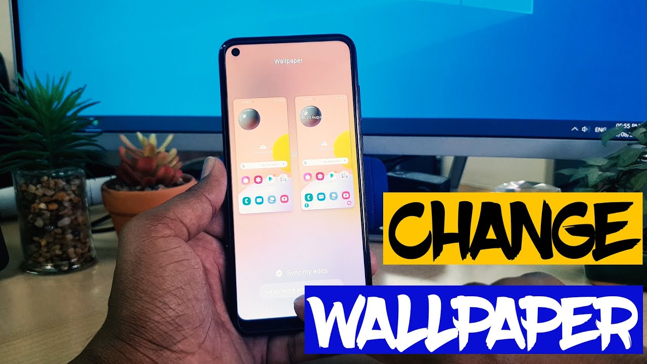 How To Change Wallpaper In Samsung Galaxy A11 Home Screen Customization Youtube