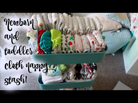 CLOTH NAPPY/DIAPER STASH NEWBORN AND TODDLER!