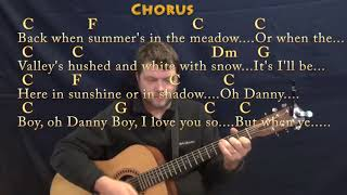Danny Boy (Traditional) Guitar Lesson Chord Chart in C with Chords/Lyrics