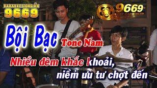 Karaoke Bội Bạc - Tone Nam | Nhạc sống KLA | Karaoke 9669