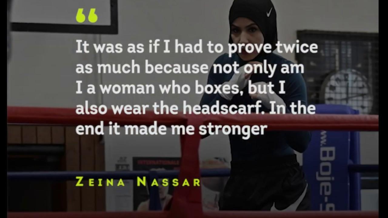 Desplazamiento Consejo Prefacio  Fight For Your Dream: Zeina Nassar Nike German boxer to fight ...